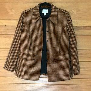 Vintage A Line Anne Klein houndstooth blazer